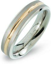 Boccia Titanium 0144.02 ring - Titanium - Zilver en goudkleurig