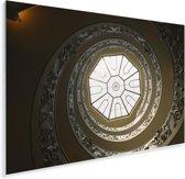 Kijken op de trap in het Vaticaanse Musea in Italië Plexiglas 90x60 cm - Foto print op Glas (Plexiglas wanddecoratie)