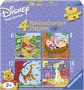 Ravensburger Winnie The Pooh Winnie,Knorretje… - Vier puzzels (6+9+12+16 stukjes)