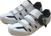 Fietsschoenen - Unisex - Wit - Maat 42