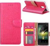 Nokia 2 - Bookcase Roze - portemonee hoesje