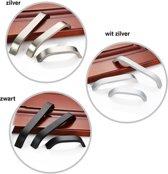 Witzilver metalen handgreep 160 mm
