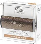 Millefiori Milano Auto parfum Sandalo Bergamotto (Metal Shades)