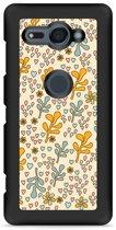 Xperia XZ2 Compact Hardcase Hoesje Doodle Flower Pattern