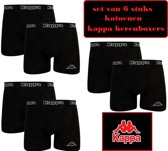 katoenen boxers 6 stuks zwart