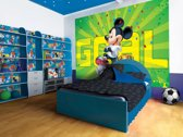 Fotobehang Disney, Mickey Mouse | Groen | 208x146cm