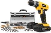 Powerplus POWX0026LI boormachine Accuboormachine - 18 V - Incl. 2 accu's - Met 275 delige toolbox