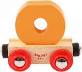 Bigjigs - Rails - Naamtrein - Letter O -Geel