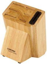 Chroma knife block T20S   Houten Messenblok voor 7 Messen