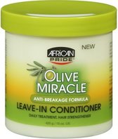 African Pride Olive Miracle Leave-in Conditioner Pot 425 gr