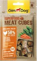 Gimdog Superfood Meat Cubes - Kip & Wortel en Spinazie - Hondensnack - 40 gr