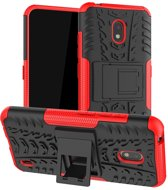 Nokia 2.2 Robuust Hybride Rood Cover Case Hoesje