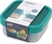 Joseph Joseph Go Eat Compact Saladebox - 15x15x7 cm - 3 in 1 - Teal