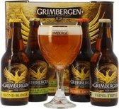 Grimbergen Cadeauverpakking - 4 stuks + 2 Glazen