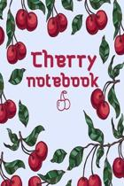 Cherry notebook: Blank Lined Gift Journal and Gift Idea for Cherry lovers