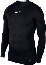 Nike Pro Top Ls Compression Sportshirt Heren - Zwart