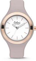 Colori 5-COL436 Macaron - Horloge - Siliconen - Grijs - Ø 44 mm
