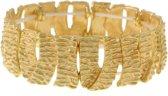 Mat goudkleurige elastische armband