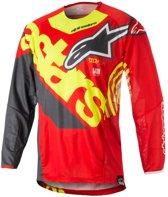Alpinestars Crossshirt Techstar Venom Red/Fluor Yellow/Anthracite-XL