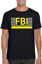 FBI logo zwart t-shirt voor heren - Geheim agent verkleedkleding M