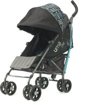 Summer Infant UME One Boho Patchwork Buggy Zwart/Aqua