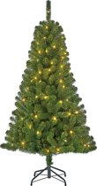 Black Box Charlton kunstkerstboom met 100 warmwitte led lampjes maat in cm: 155 x 91