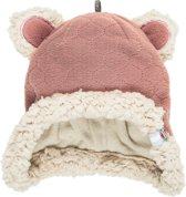 Lodger Baby muts - Hatter Botanimal - Donkerroze - Fleece - 0-3 mnd