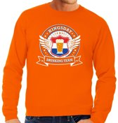 Oranje Kingsday drinking team sweater heren 2XL