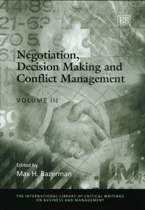 Negotiation, Decision Making and Conflict Management