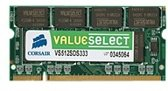 Corsair 512MB DDR SDRAM SO-DIMMs geheugenmodule 0,5 GB 333 MHz