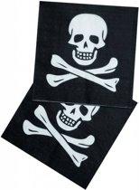 Piraten Servetten Doodshoofd - 12 stuks