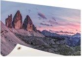 Panoramafoto Dolomieten Zuid-Tirol Tuinposter 60x40 cm - klein - Tuindoek / Buitencanvas / Schilderijen voor buiten (tuin decoratie)