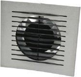 Air inbouwventilator Design met timer aluminium Ø 100 mm