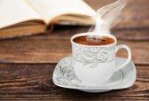 Espresso kopjes en schotels Leaves - 6+6 stuks
