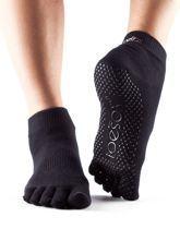 Toesox Ankle Grip Full Toe Zwart