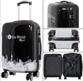 koffer Polycarbonate Fly The World Black | 78cm