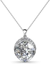Yolora Ketting Swarovski Kristallen Clear - zilver kleurig - voor vrouwen - YO-078
