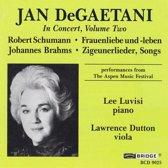 Jan DeGaetani in Concert Vol 2 - Schumann, Brahms / Luvisi