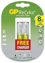 GP Recyko USB oplader + 2AA batterijen