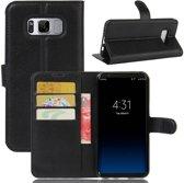GSMWise - Samsung Galaxy S8 PU lederen TPU Portemonnee hoesje met Kaarthouder Lychee - Zwart