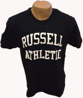 Russell T Shirt groot logo zwart