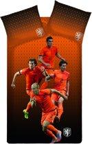 KNVB Onze Helden Dekbedovertrek - Oranje - eenpersoons - 140x200