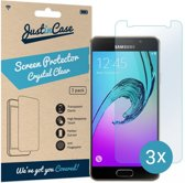 Just in Case Screen Protector voor Samsung Galaxy A3 (2016) - Crystal Clear - 3 stuks