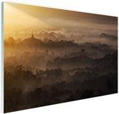 Borobudur Java Indonesie Glas 30x20 cm - klein - Foto print op Glas (Plexiglas wanddecoratie)