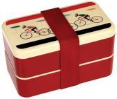 Bentobox/ lunchbox Retro Fietser