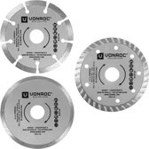 VONROC - Diamond cutting disc set 115mm