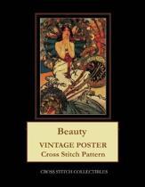 Beauty: Vintage Poster Cross Stitch Pattern