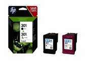 HP INK CARTRIDGE No 301 B/C/M/Y (N9J72AE#301)