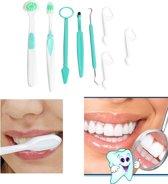 8-Delige Tandverzorging Set - Tandarts Haak & Mond Spiegel Gereedschap
