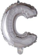 letterballon - 41 cm - zilver - C
